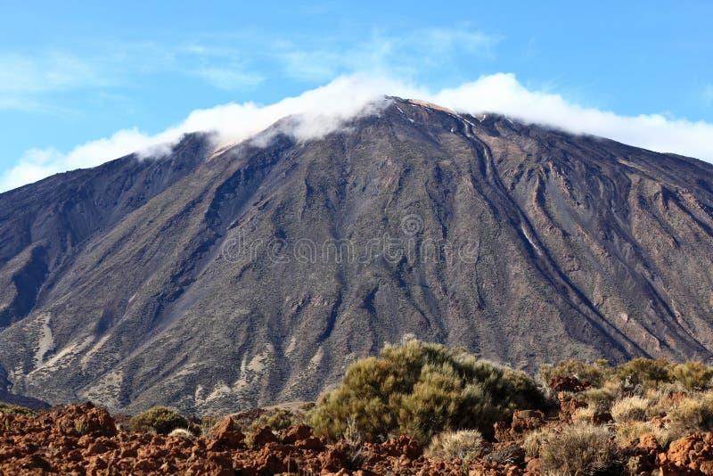 De bovenkant van de berg, Tenerife, Teide stock foto