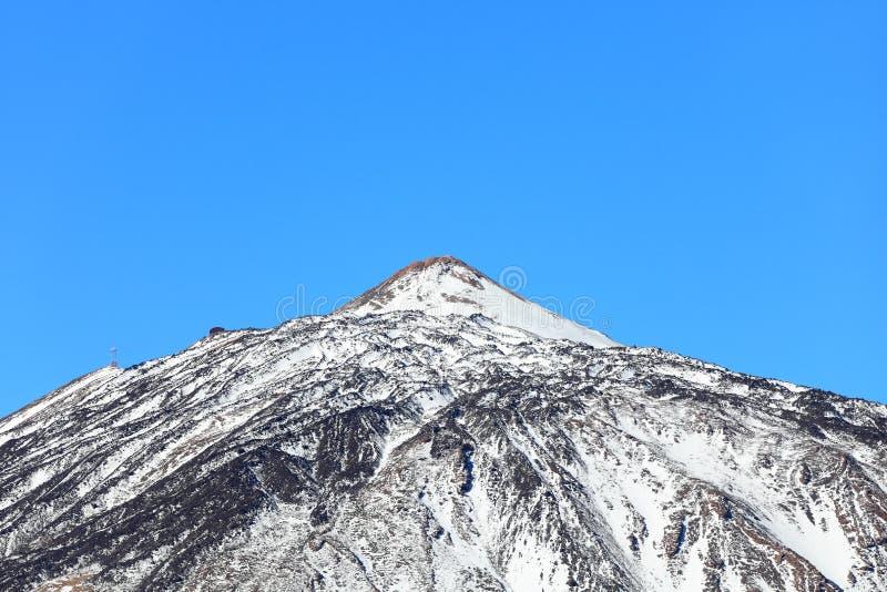 De bovenkant van de berg van Vulkaan Teide, Tenerife royalty-vrije stock foto
