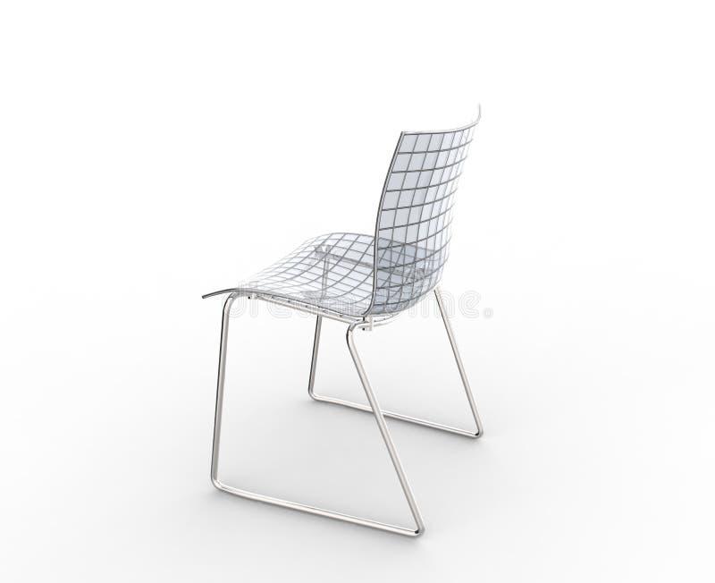 De Bovenkant van de glasstoel vector illustratie