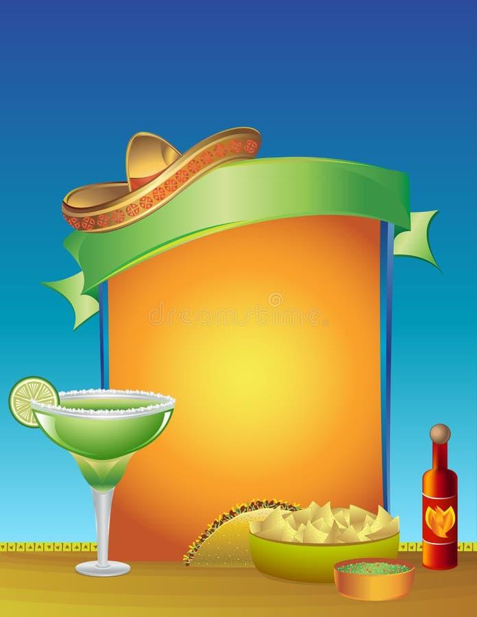 De Bovenkant van de Lijst van de Dinsdag van de taco vector illustratie