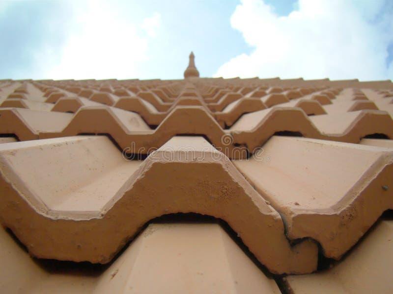 De bovenkant van het tempeldak stock foto's