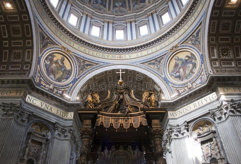 De bovenkant van het Vatikaan stock afbeelding