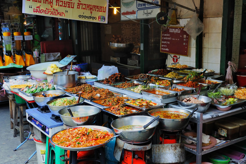 De Box van het voedsel in Thailand royalty-vrije stock afbeelding