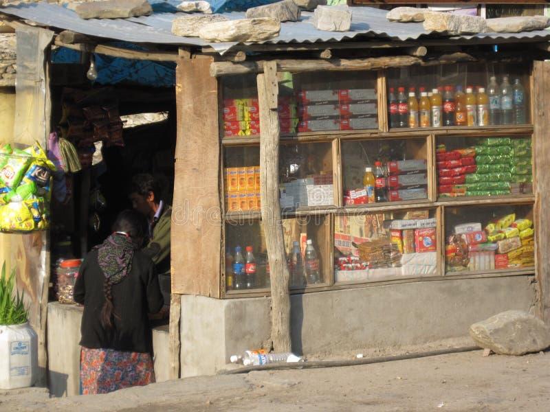 De boxen van de kant van de weg in India royalty-vrije stock foto