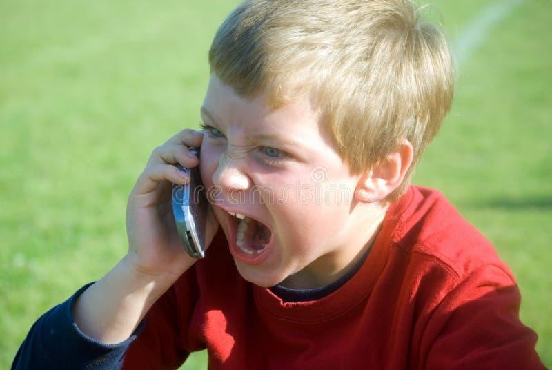 De boze Telefoon van de Uitdrukking/van de Cel   royalty-vrije stock afbeeldingen