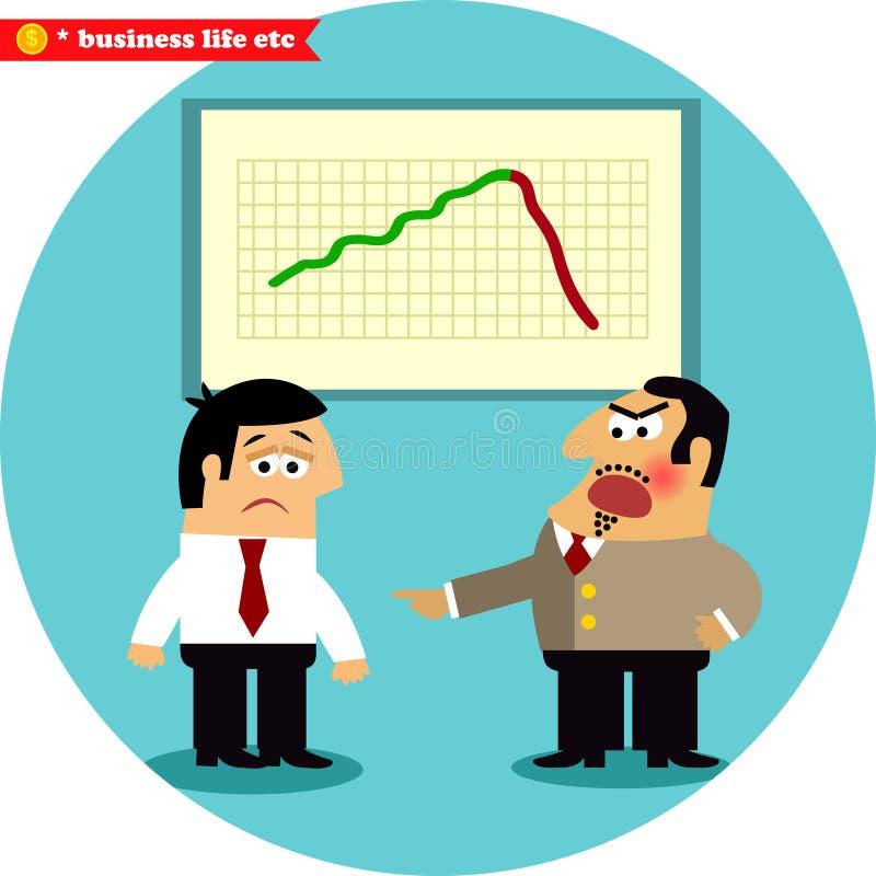De boze werkgever beschuldigt manager vector illustratie