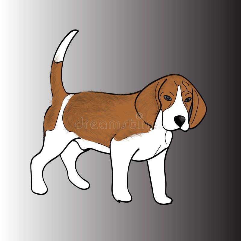 De Brakras van de Snoopyhond van hond bruine wol royalty-vrije stock afbeelding