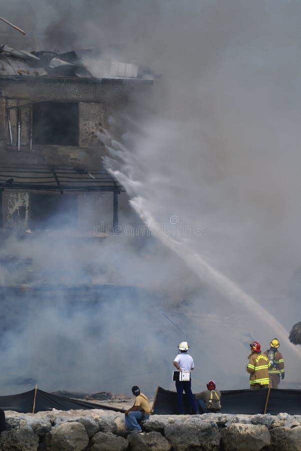De brand in Cheeca brengt Toevlucht onder royalty-vrije stock fotografie