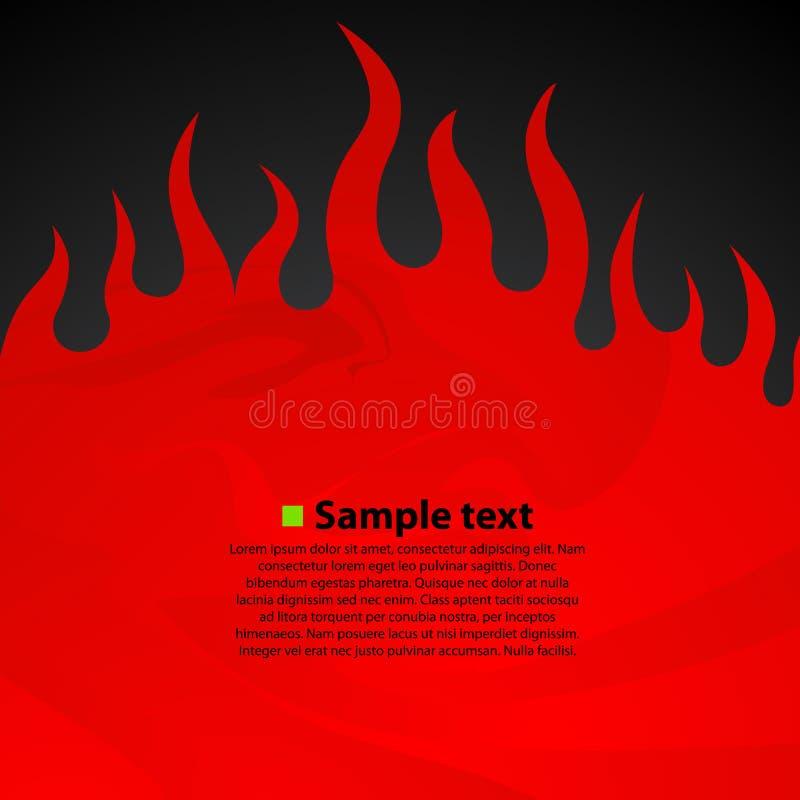 De brand donkere achtergrond van de brandwondvlam vector illustratie