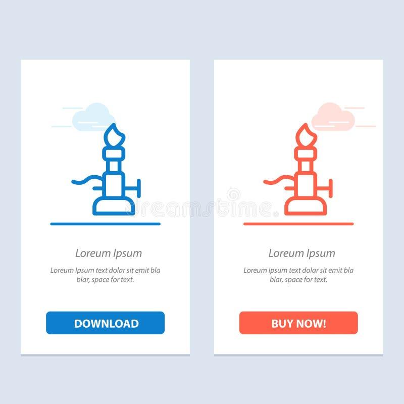 De brand, het Laboratorium, het Licht, de Wetenschap, de Toorts Blauwe en Rode Download en kopen nu de Kaartmalplaatje van Webwid stock illustratie