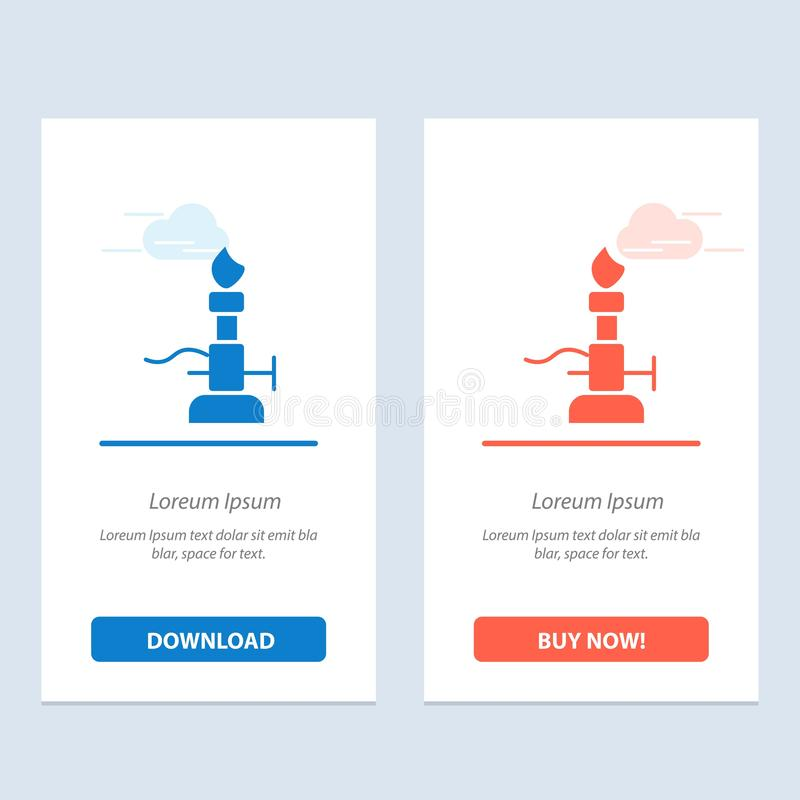 De brand, het Laboratorium, het Licht, de Wetenschap, de Toorts Blauwe en Rode Download en kopen nu de Kaartmalplaatje van Webwid vector illustratie