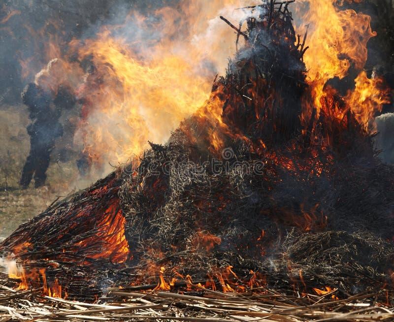 De brand van Carnaval royalty-vrije stock foto