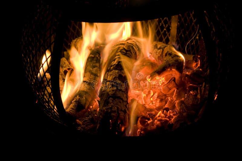 De Brand van Chiminea stock afbeeldingen