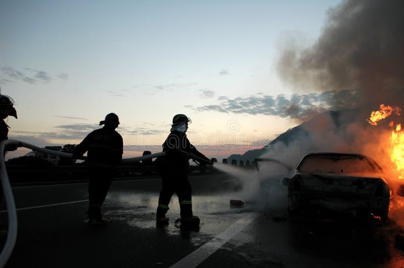 De brand van de auto royalty-vrije stock foto