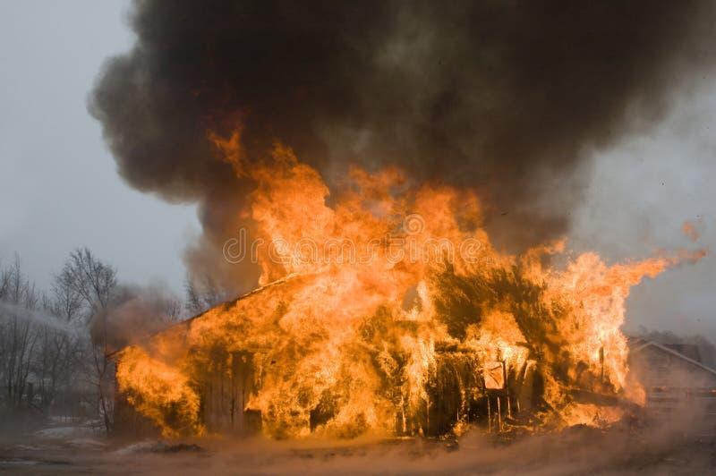 De brand van de schuur royalty-vrije stock fotografie