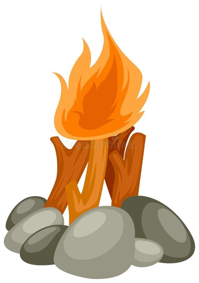 De brand van het kamp vector illustratie