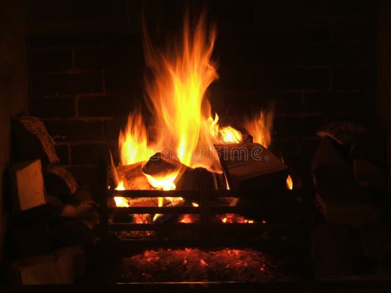 De Brand van het logboek royalty-vrije stock afbeelding