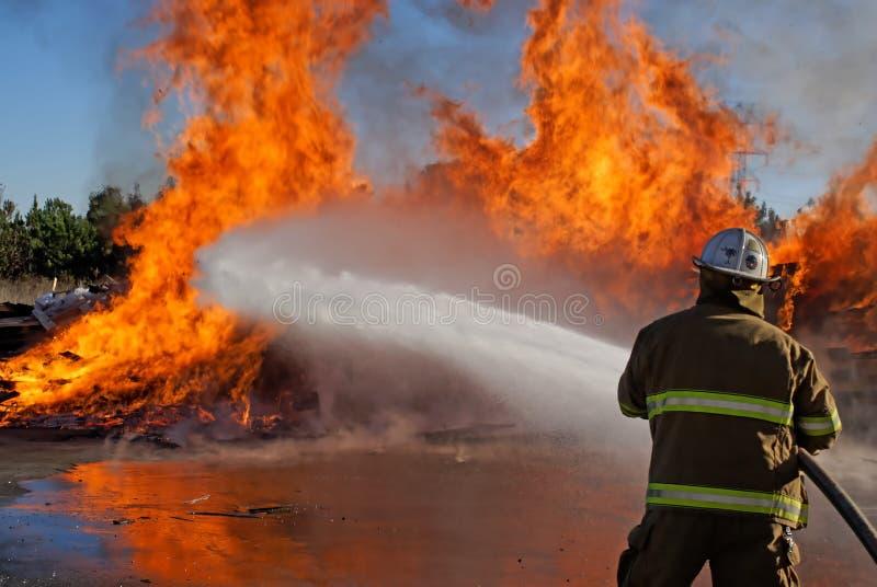 De Brand van het palet stock foto
