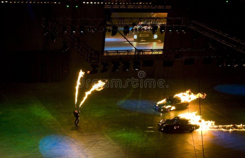 Download De brand van Topgear toont redactionele stock foto. Afbeelding bestaande uit auto - 29500363