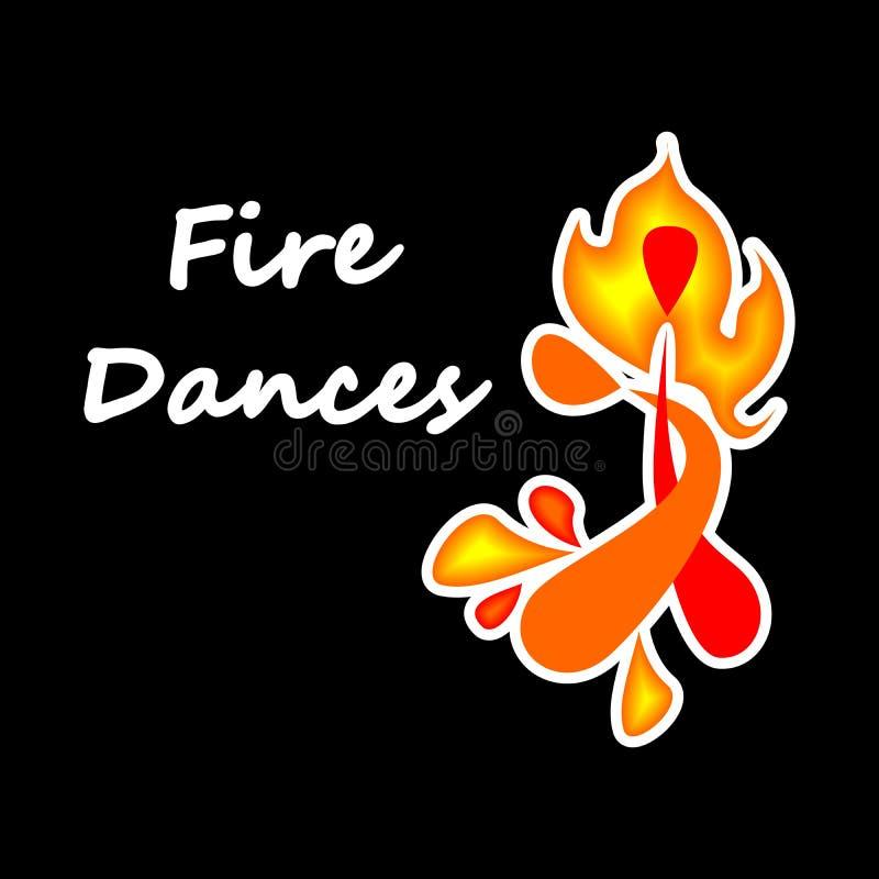 De branddansen royalty-vrije illustratie