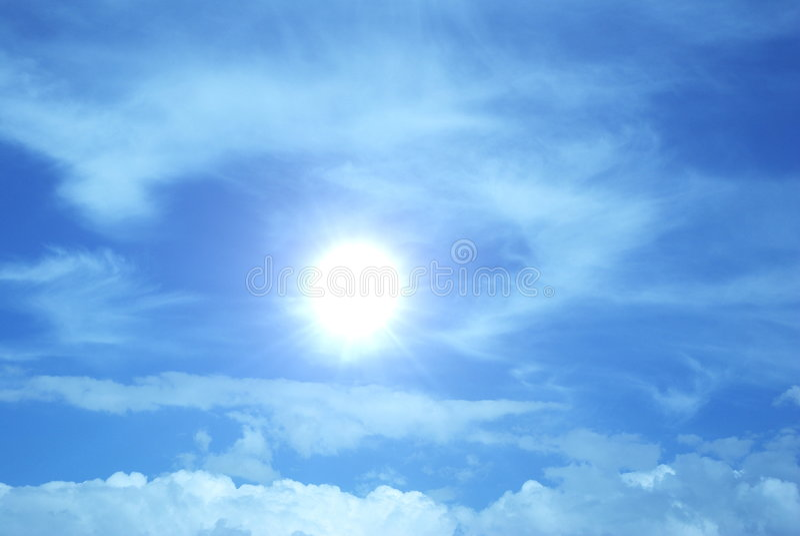 De branden-hete zon royalty-vrije stock foto