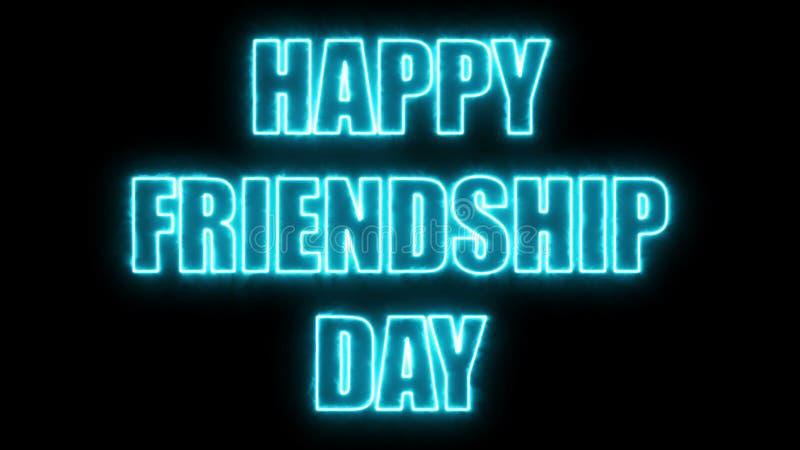 De brandende brieven van de Gelukkige teksten 3d van de vriendschapsdag, geven achtergrond terug, computer die voor vakantie fees vector illustratie
