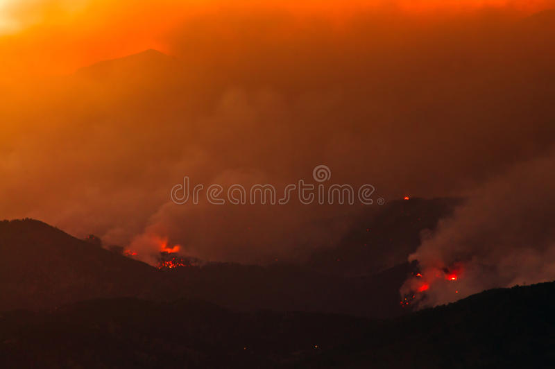 De brandende Heuvels royalty-vrije stock foto
