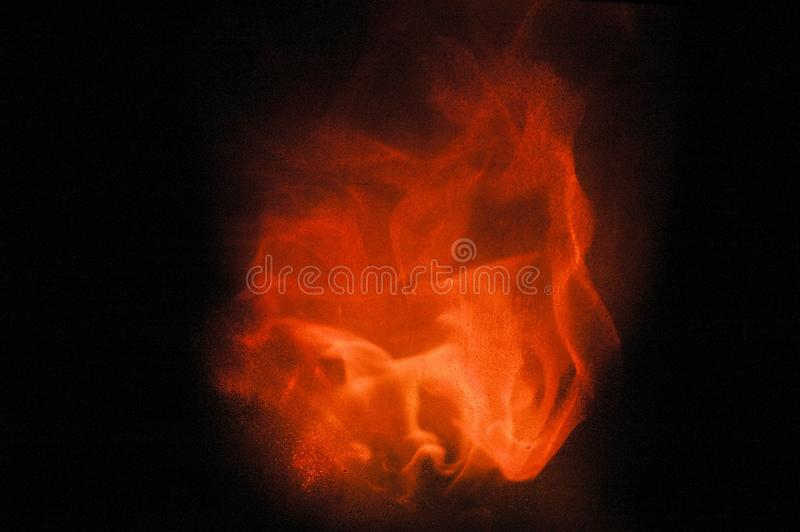 De brandende Vlam smeedt binnen royalty-vrije stock foto's