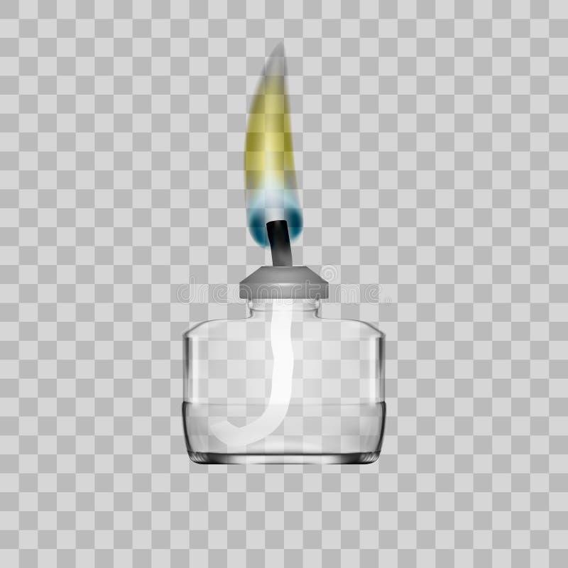 De Brander van de geestlamp voor Chemisch Laboratorium op Transparante Achtergrond stock illustratie