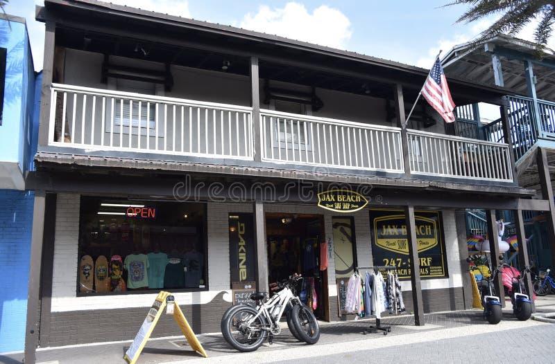 De Brandingswinkel van het Jaxstrand, Jacksonville, Florida royalty-vrije stock foto