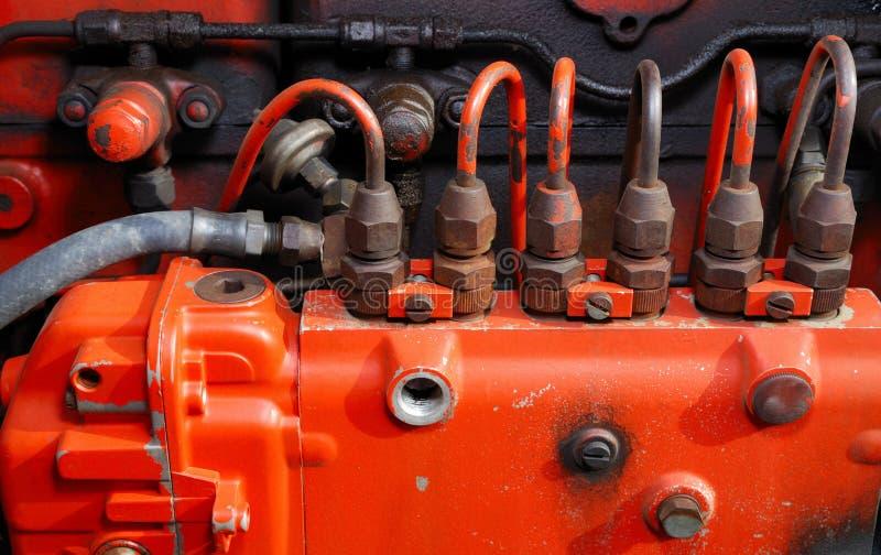 De Brandstofinjectors van de tractor royalty-vrije stock afbeelding