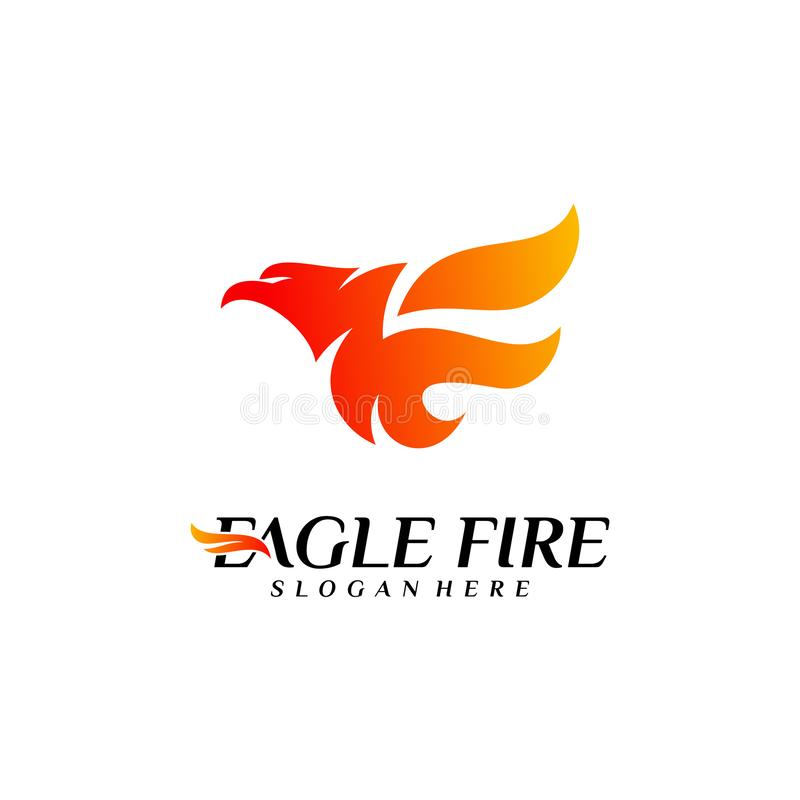 De Brandvogel Logo Design Concepts van Phoenix Duif Eagle Logo Template Vector Pictogramsymbool vector illustratie