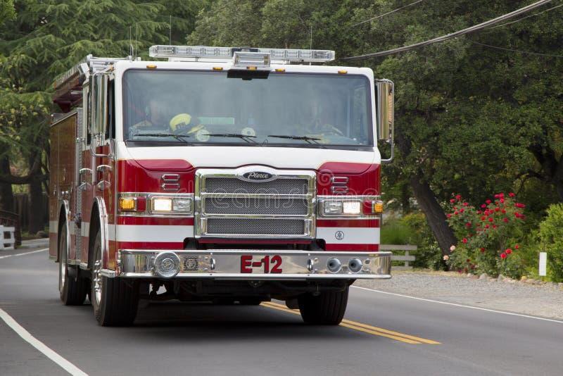 De brandvrachtwagen van de Napaprovincie in Yountville royalty-vrije stock fotografie