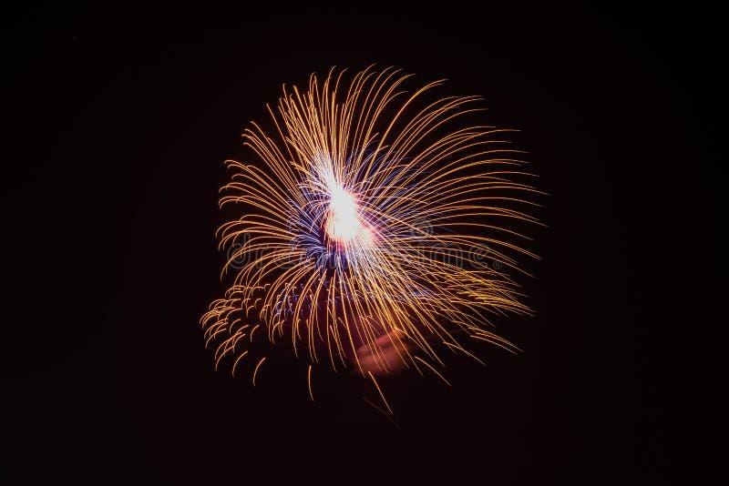 De brandwerken tijdens Feest stock fotografie