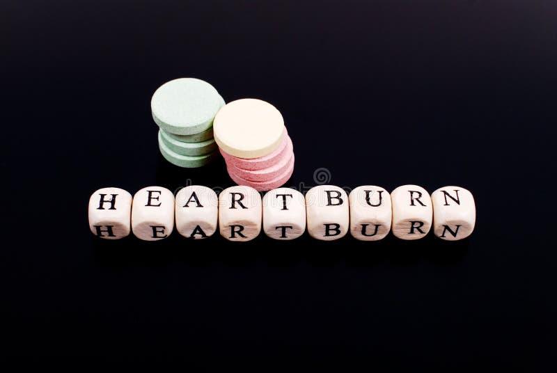 De Brandwond van het hart stock foto
