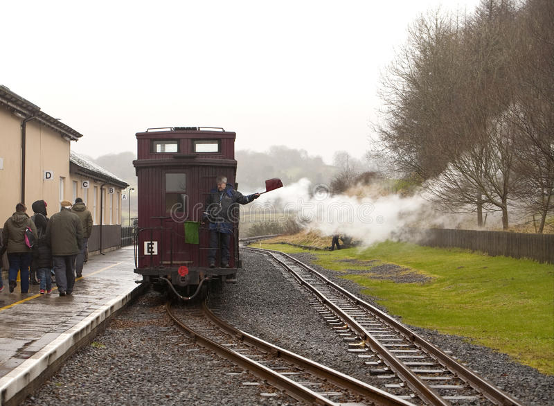 De Brecon fyrarnas järnvägen för arv royaltyfria bilder