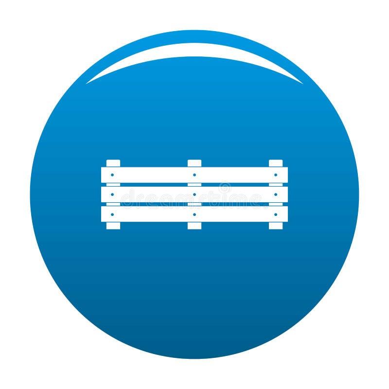 De brede blauwe vector van het omheiningspictogram vector illustratie