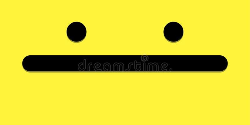 De brede glimlach gele achtergrond kijkt als kuiken royalty-vrije illustratie