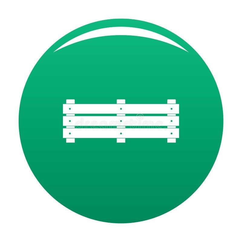 De brede groene vector van het omheiningspictogram royalty-vrije illustratie