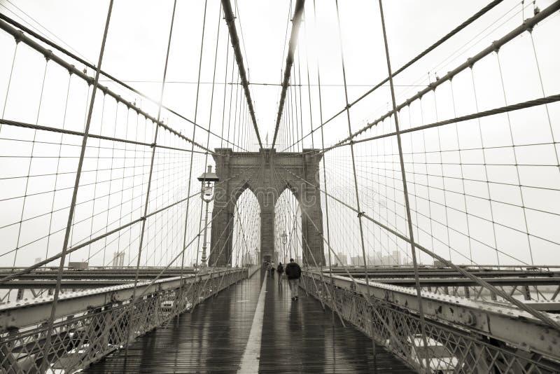 De Brede Hoek van de Brug van Brooklyn royalty-vrije stock foto's