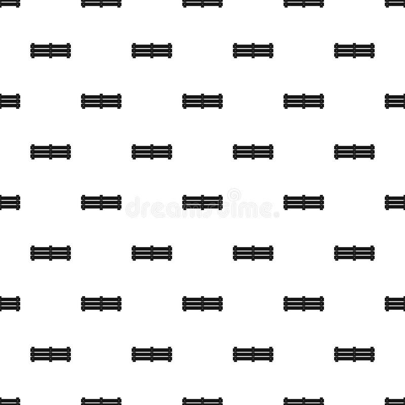 De brede naadloze vector van het omheiningspatroon vector illustratie