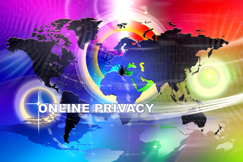 De Brede Online Privacy van Wprld stock illustratie