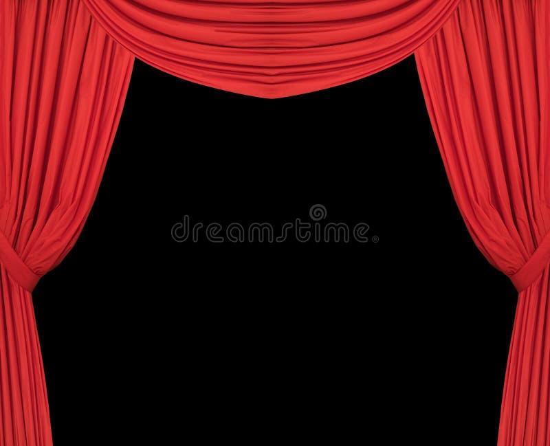 De Brede Rode Gordijnen Van Het Theater Stock Foto - Afbeelding ...