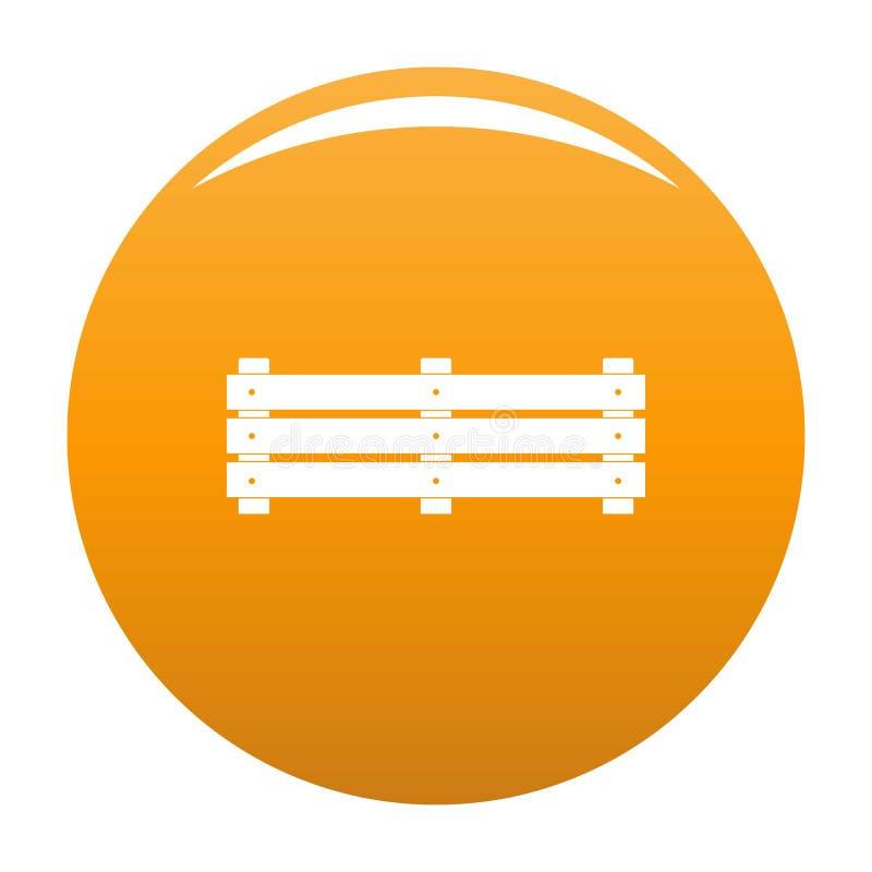 De brede sinaasappel van het omheiningspictogram royalty-vrije illustratie