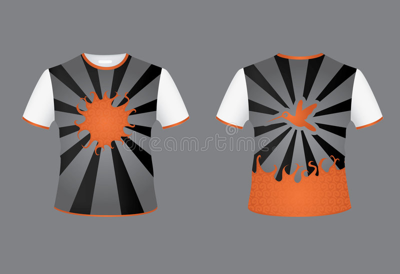De breedtezon van de t-shirt stock illustratie