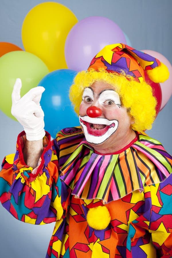 De Brekende Vingers van de clown stock afbeelding