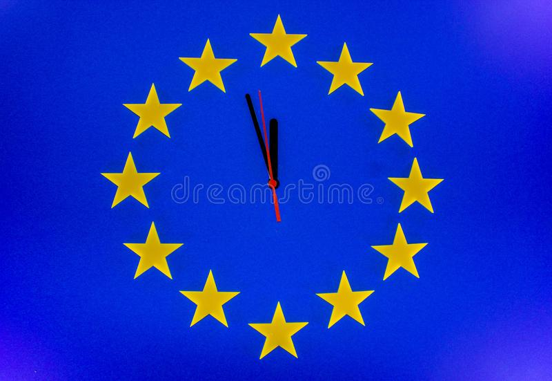 De Brexit-Aftelprocedure stock foto's