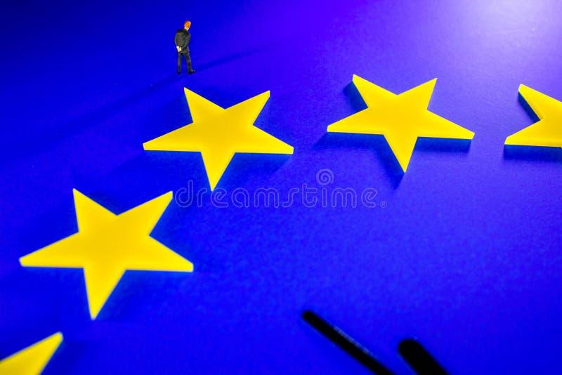 De Brexit-Aftelprocedure stock foto