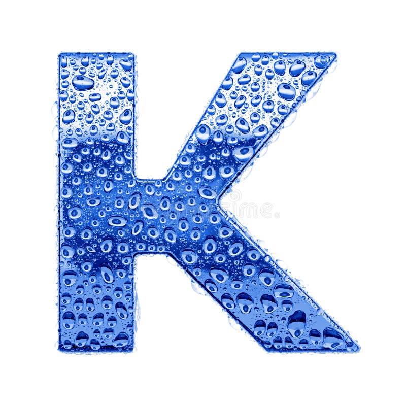 De brief & het waterdalingen van het metaal - brief K royalty-vrije stock foto