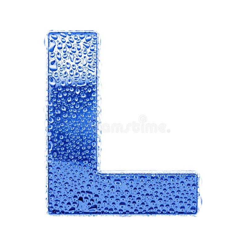 De brief & het waterdalingen van het metaal - brief L royalty-vrije stock afbeelding